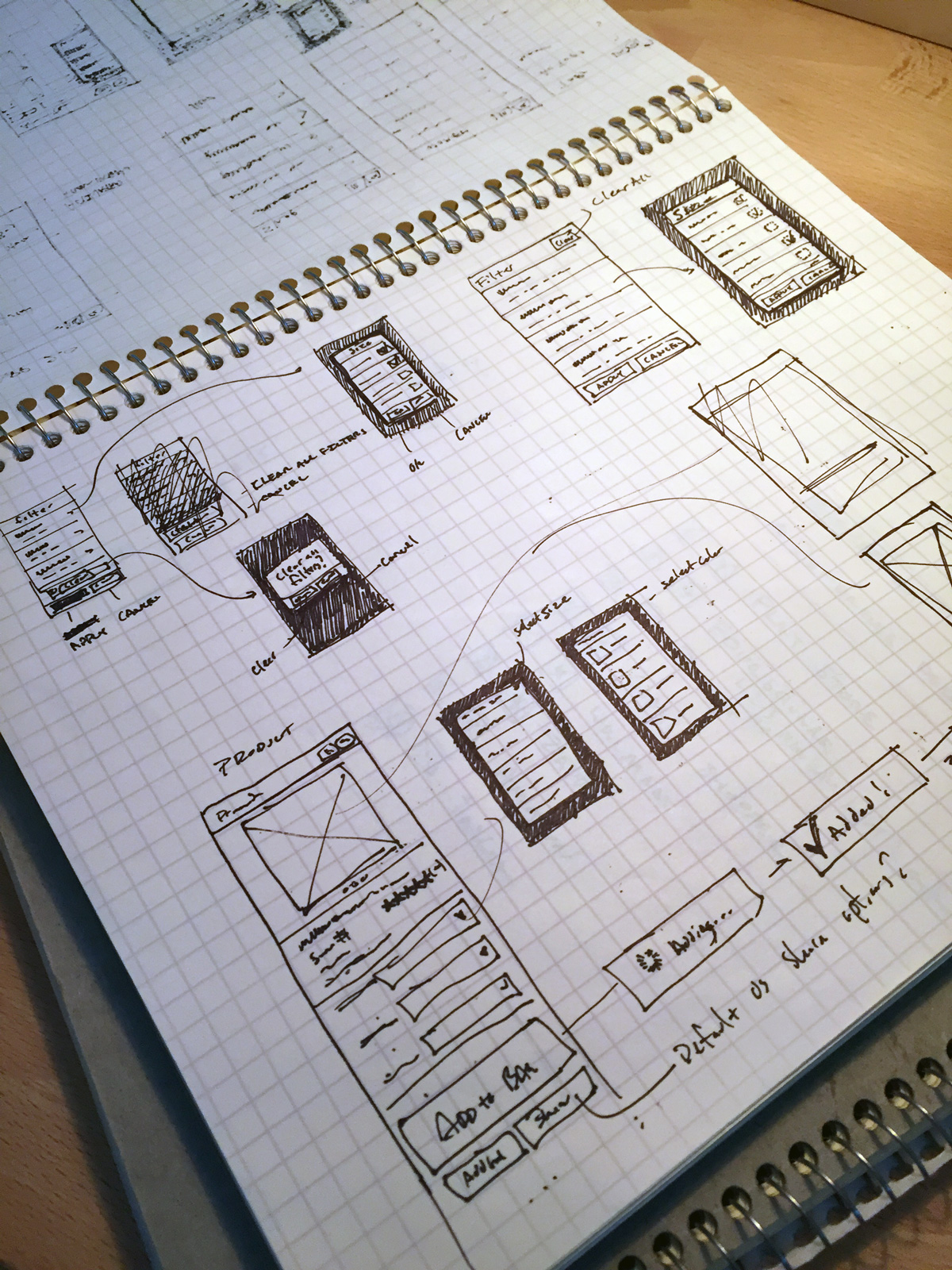 Mobile design sketches